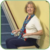 Woman in stair lift - Atlanta, Gwinnett
